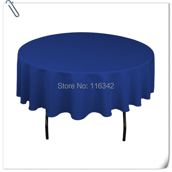 Free shipping round 10pcs table cloth 230cm in diameter for eight people Blue table cloth dining Table cover Round tablecloth(China (Mainland))