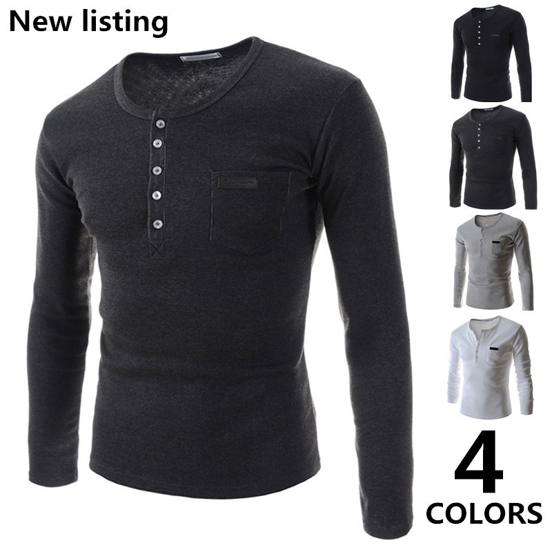 Free shipping new arrival men long sleeve t shirts polo o for Mens t shirts free shipping