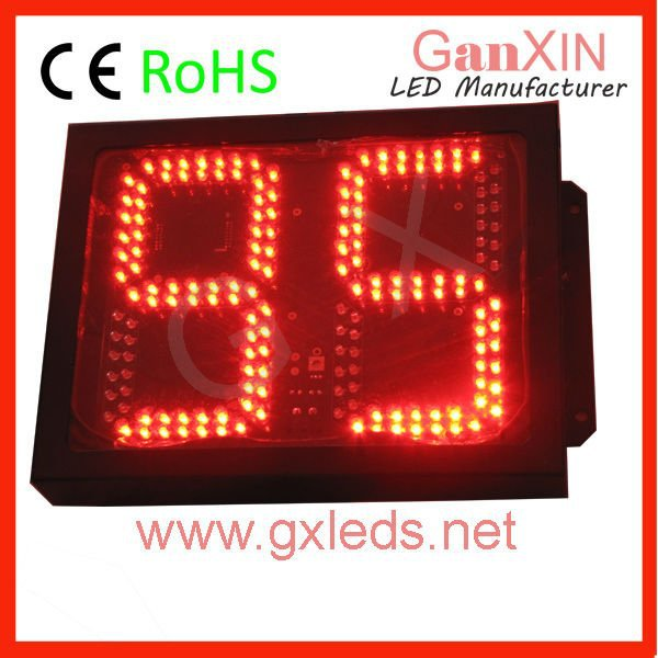 8inch 2digits High brightness red steel frame led outdoor digital led counter, traffic sign(China (Mainland))