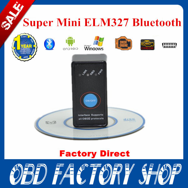 2015 New Version V2.1 Super Mini Bluetooth ELM327 OBD2 CAN-BUS Diagnostic Scanner With Switch Works on Android Symbian Windows(China (Mainland))