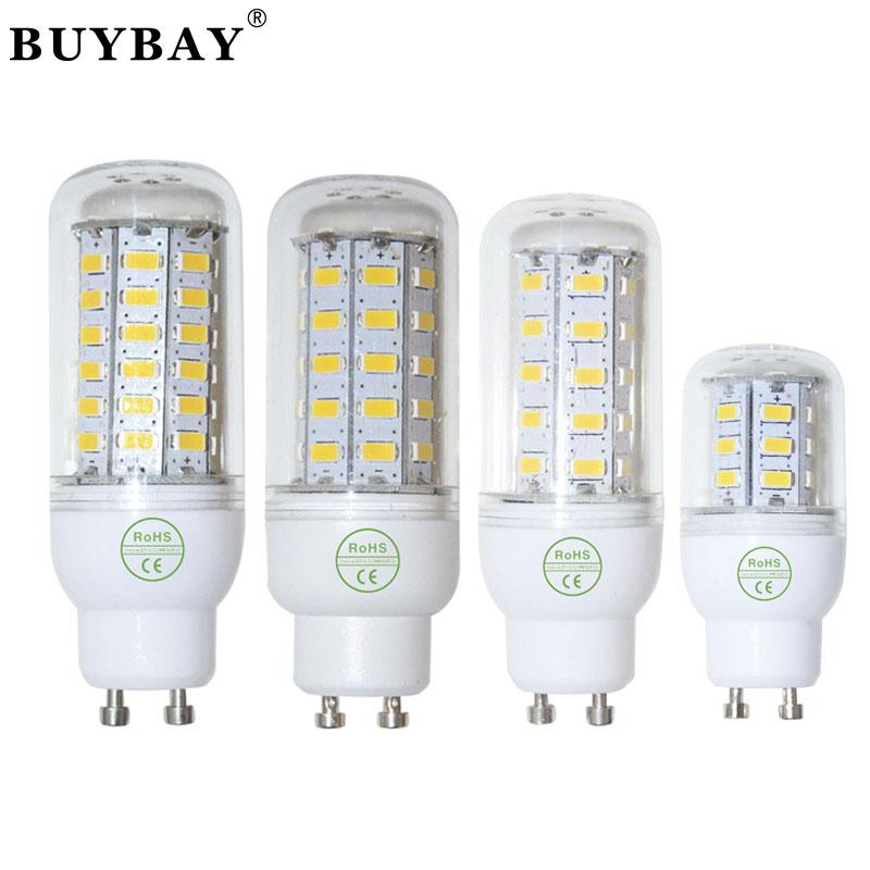 BUYBAY led lamp 220V GU10 SMD 5730 24LED 36LED 48LED 56LED Bulb 110V led corn bulb white/warm white light chandelier lamp gu10(China (Mainland))