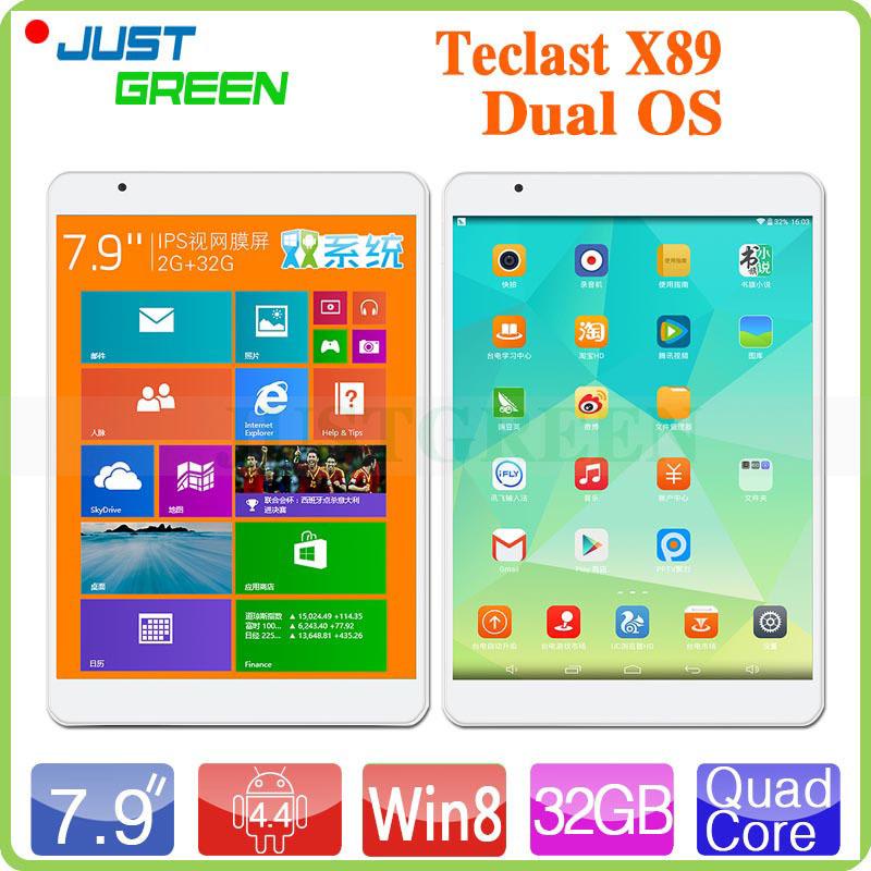 "7.9"" 2048X1536 Retina Teclast X89 Dual OS Tablet PC Z3735F Quad Core 2GB RAM 32GB ROM 5.0MP HDMI Windows 8.1+Android 4.4(China (Mainland))"