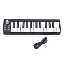 World Easy key 25 Portable Keyboard Mini 25-Key USB MIDI Controller Electronic Organ Accessories(China (Mainland))