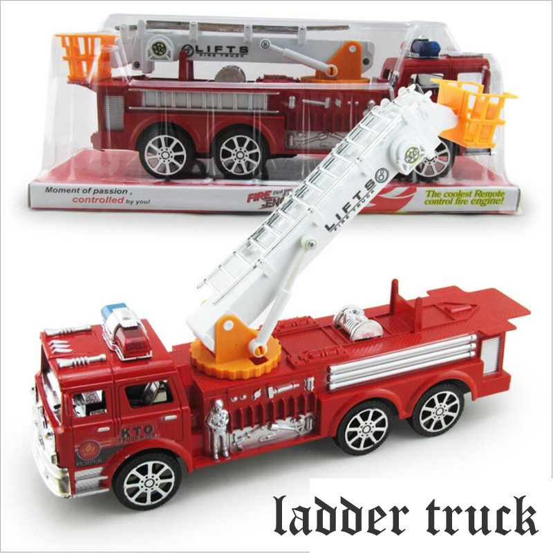 2016 New simulation fire truck ladder model car free shipping kids toys car large inertia great gift smile pokemon stickers(China (Mainland))