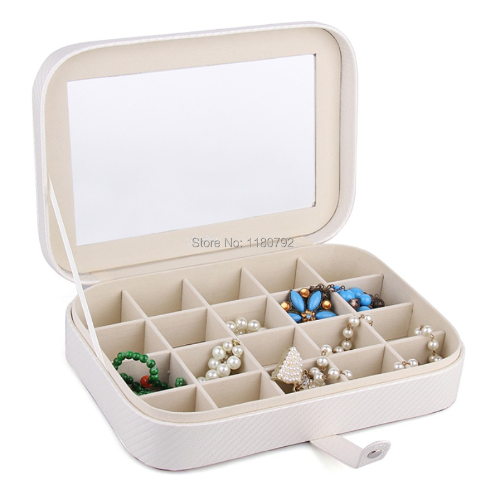 [ROWLING] Wholesale Jewelry box Rings Cufflinks Necklace Pendant Storage Case Faux Leather ZG201(China (Mainland))