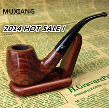 2014 import rosewood manual filtering tobacco pipe,bent pipe,giving all smoking suite