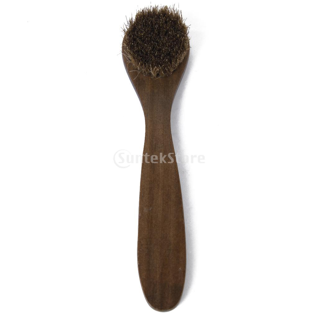 Wooden Long Handle Brushes Bristle Horse Hair Shoe Boot Polish Applicator Polish Dauber(China (Mainland))