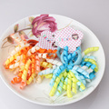 New 1lot 2pcs Candy Color Scrunchy Ribbon Colorful Hair Holders Girls Hair Rope Elastics Hair Tie
