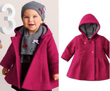 Winter New Arrival Baby Girls Coats Jackets Trench Hooded Outfits Overcoat Children s Outfits Blouses Free
