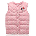 Minnie Princess Girls Vest White Duck Down Jacket For Girls Coats 2 10Y Children Clothing Winter
