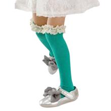 Kids Baby Girls High Knee Lace Socks Cotton Children School Socks 3 8Y 5 Colors