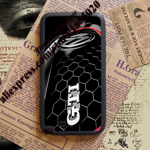 2015 hot sell soft Material vw gti emblem Volkswagen Background phone case cover for Samsung Note 2 3 4(China (Mainland))
