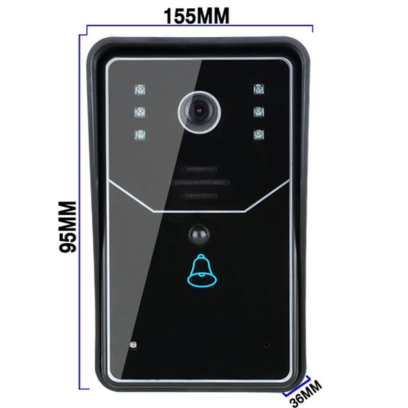Free Shipping! Smart WiFi video doorbell for smartphones & tablets, wireless video door phone, IP Wi-Fi camera