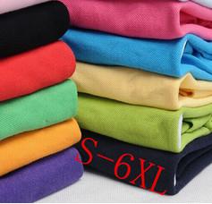Hot 2016 New Men's Polo Shirt Men Cotton Short Sleeve shirt sports jerseys golf tennis Plus Size S - 6XL(China (Mainland))