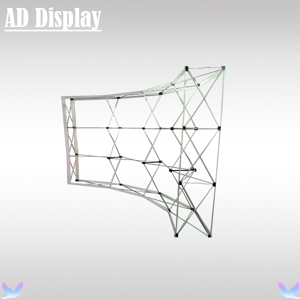 10ft Economical Model Curve Shape Tension Fabric Banner Pop Up Display Stand,Exhibition Booth Portable Wall(Only Frame)(China (Mainland))