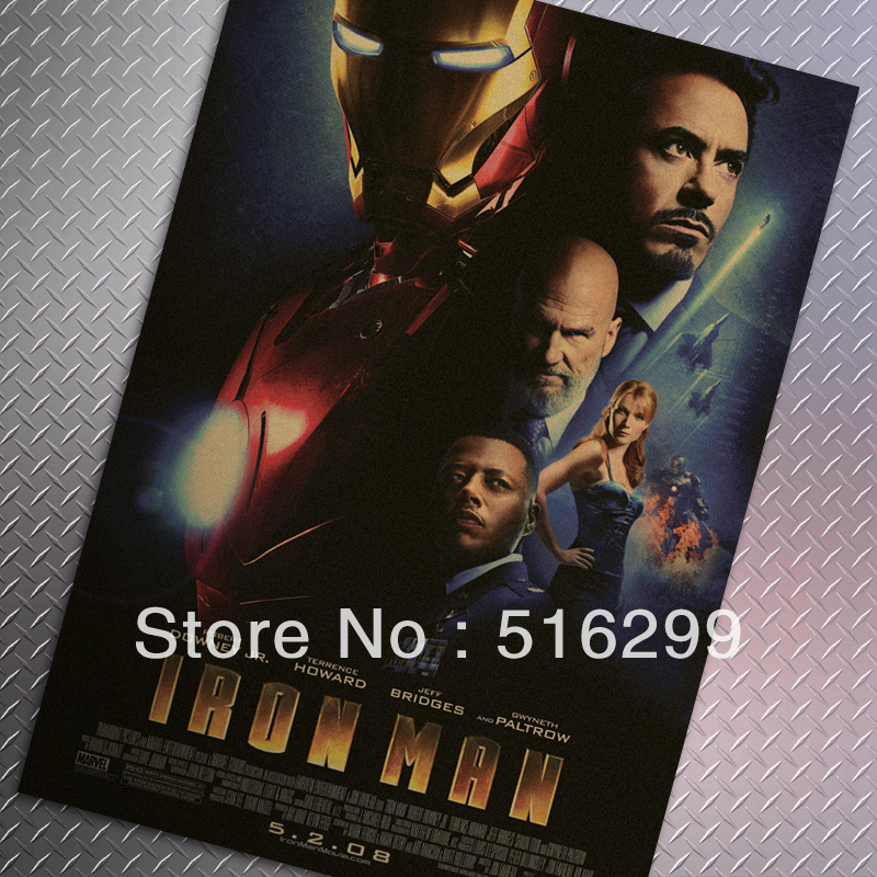 Mike86 Iron Man I Movie Vintage Classic Wall Poster