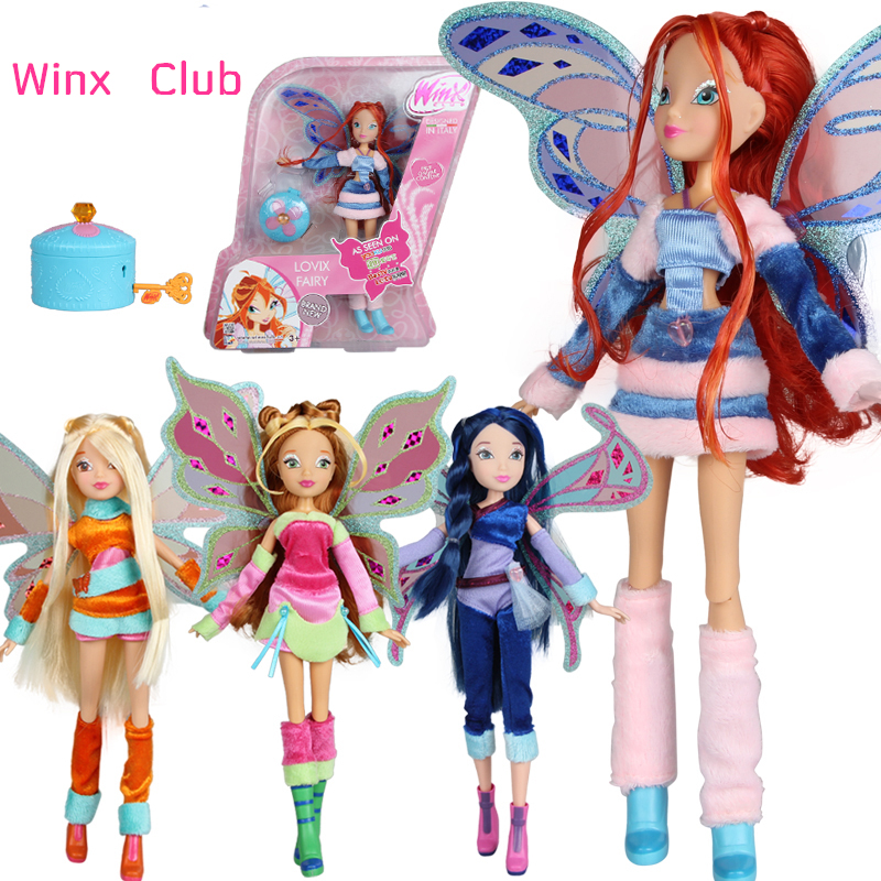 Believix Fairy&Lovix Fairy Winx Club Doll rainbow colorful girl Action Figures Fairy Bloom Dolls with Classic Toys For Girl Gift(China (Mainland))