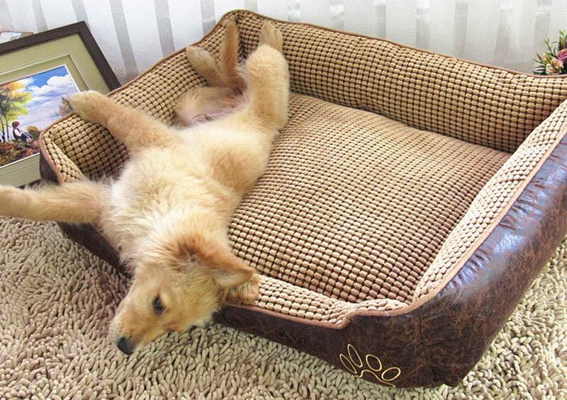Large Dog Bed Mat Cushion Washable Warm Soft Fleece Pet House Kennel Cushion Luxury Sofa Bed Pet Products PT0027 (10)