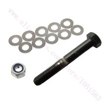With track Code, 1 set M8 Hobbed Bolt with lock nut and gaskets for 3d printer Extruder Free Shipping