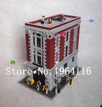 New LEPIN16001 Ghostbusters series the Firehouse Headquarters house Model building blocks Compatible 75827 Toys for children(China (Mainland))