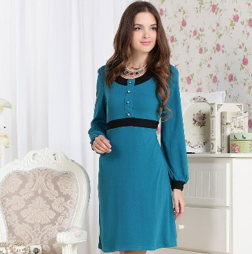 Free Shipping! Women's Dresses Solid Dresses Short O-neck Ladies Dresses A-Line Apparel of Female Pullove vestido casual 2015(China (Mainland))