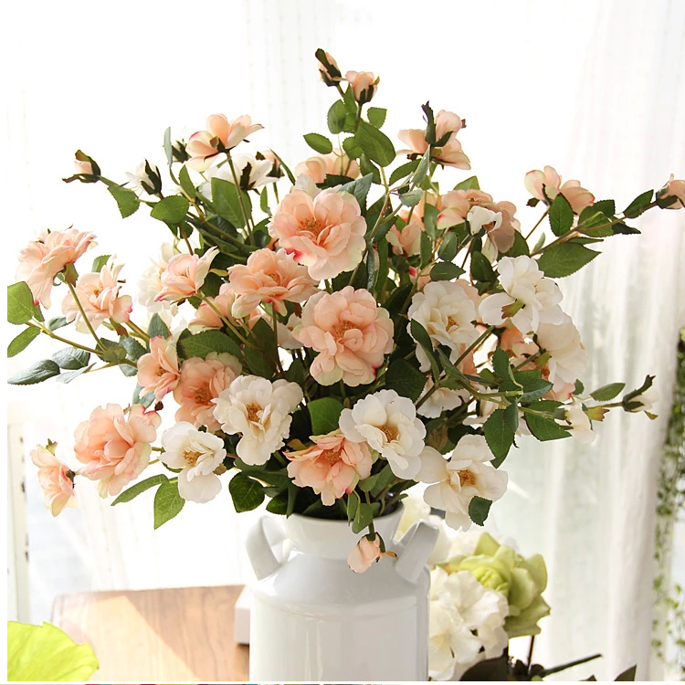 6 pcs/Lot Cheap&Quality Fresh Artificial Flowers Real Touch Tea Rose Bouquet Flower/decorative flowers/wedding decoration flower(China (Mainland))