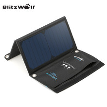 Buy BlitzWolf 15W Solar Power Bank Portable Dual USB Charger Solar Panel Mobile Phone Charger 2A Universal iPhone Samsung for $37.99 in AliExpress store