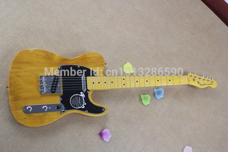 2019 free shipping Top Quality Lower Price TELE Natural color Guitars Telecaster Electric Guitar in stock(China (Mainland))