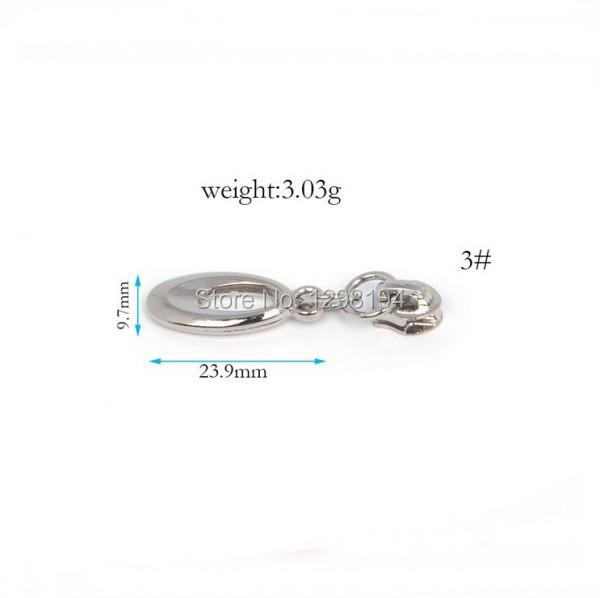 3# Wholesale 50pcs Zipper Sliders Metal Zipper Pulls zipper Head For Handbag/ Backpack/Clothing/Sewing Tailor Tools(China (Mainland))