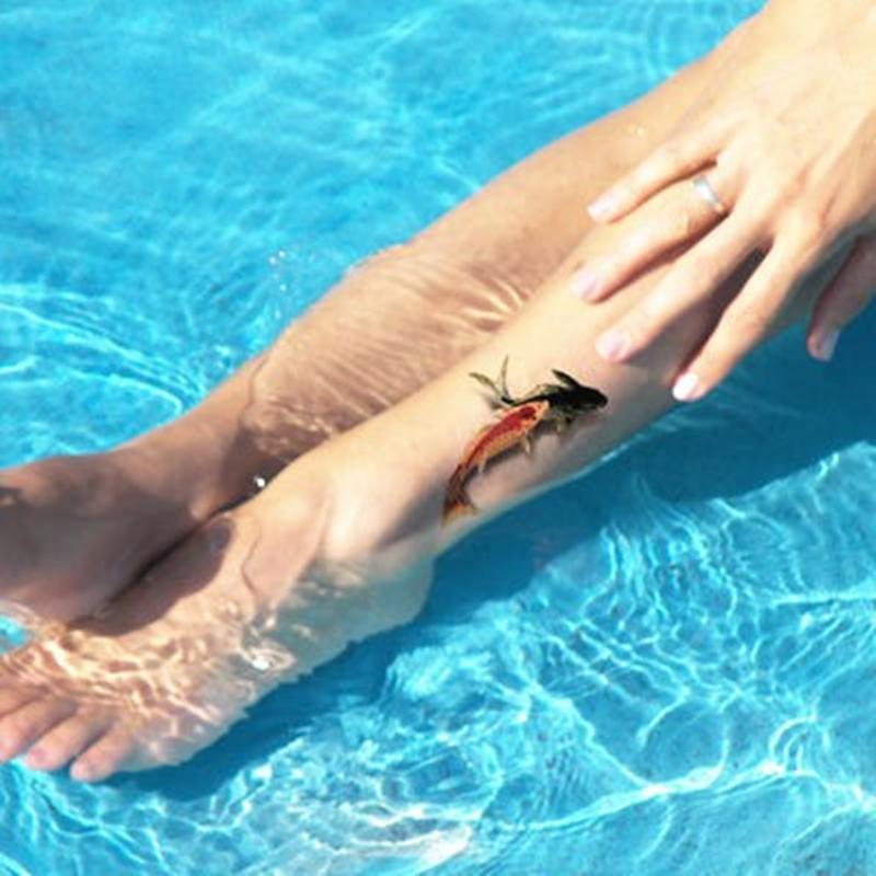 Fantasia carpa Koi Fish 3d tatuagem temporária Body Art Flash do tatuagem adesivos, 19 * 9 cm à prova d ' água Henna Tatoo Selfie falso etiqueta do tatuagem(China (Mainland))