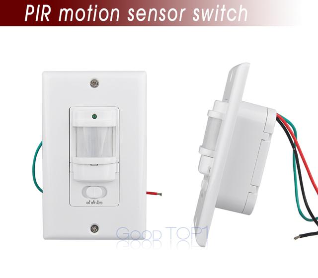 Alta qualidade 110 v 240 v auto pir sensor infravermelho - Detector de luz ...
