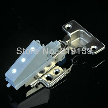 Furniture Hardware Self Hydraulic Brass Buffer Nickel Kitchen Cabinet Door Gate Soft Close Hinges Damper With LED