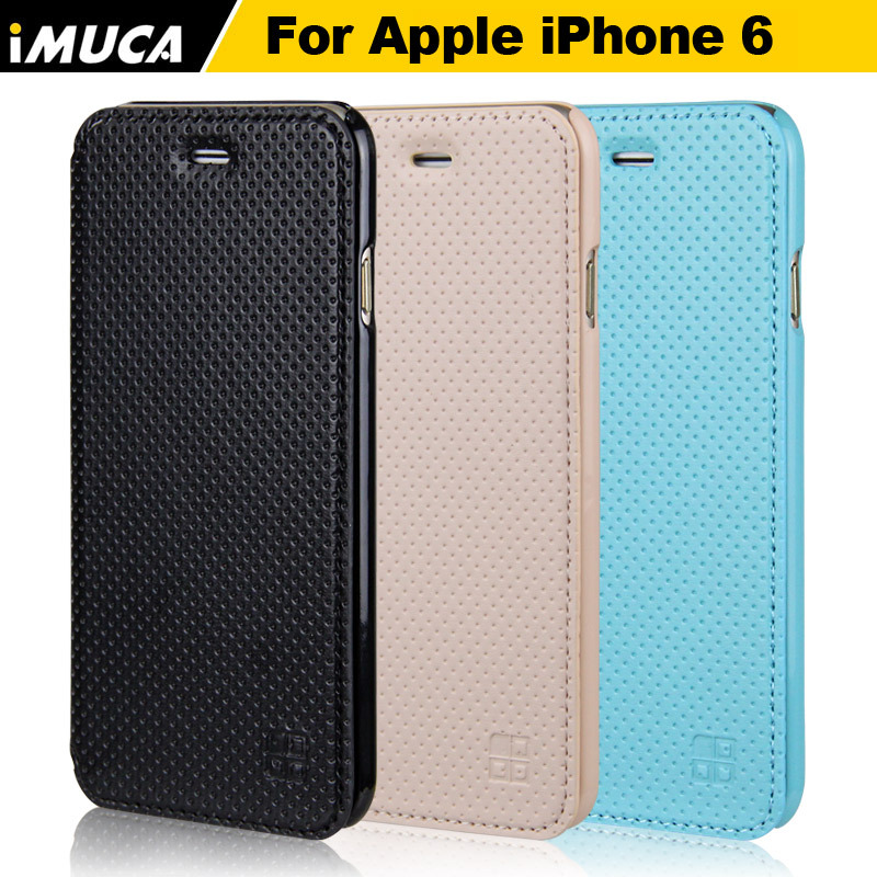 iMUCA Brand For iPhone 6 Case Wallet Leather Fashion Flip Mesh Hard Cover Cell Phone Cases For Apple iPhone 6 6S 4.7 Wallet Card(China (Mainland))