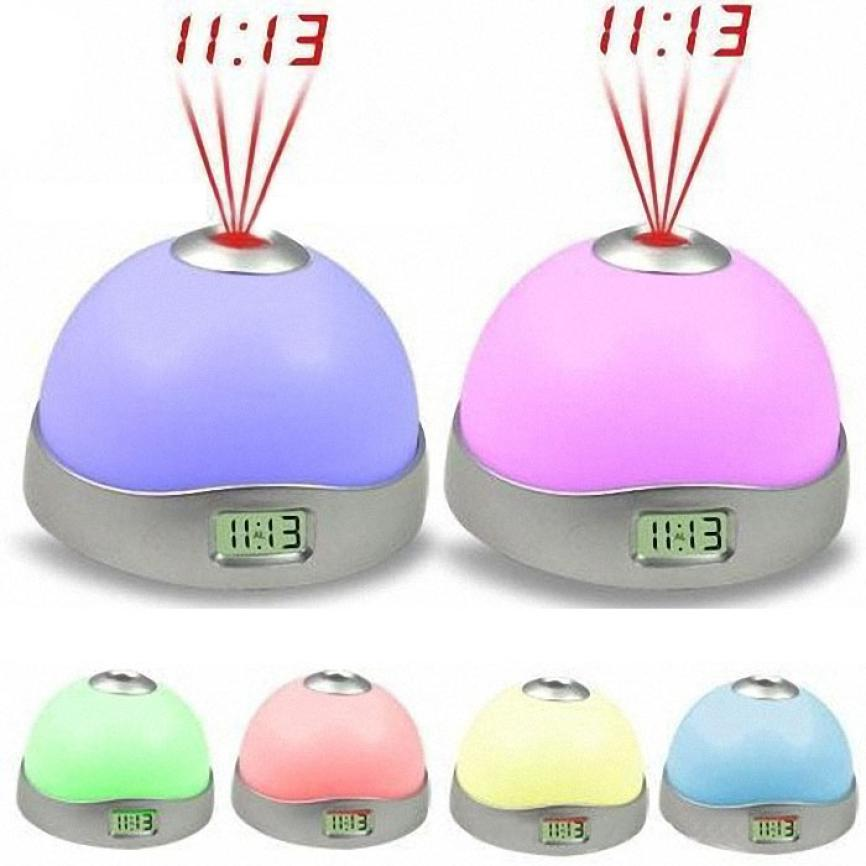 The second generation Projection Alarm Clock hemisphere Starry Digital LED Projection Alarm Clock Night Light Color Changing(China (Mainland))
