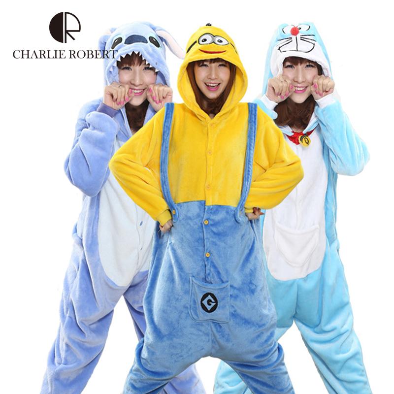 Warm 2016 New Winter Women Sleepwear High Quality Flannel Onesies Nightgown Animal Style Onsies Sleepwear For Girls WH223(China (Mainland))