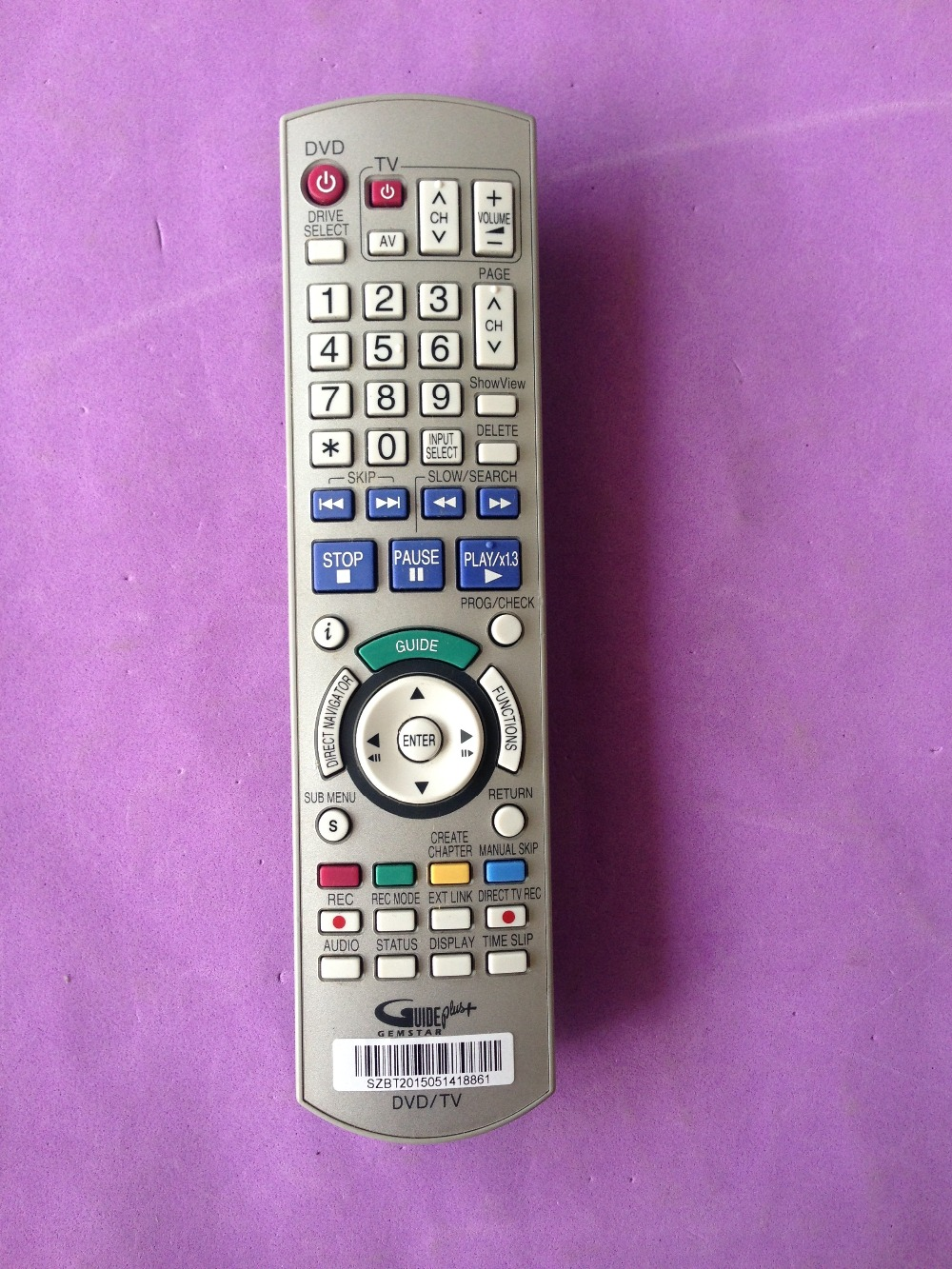 FIT FOR Panasonic DMR-EH55 DMR-EH55S DVDR/HDD Recorder Remote Control EUR7659Y60(China (Mainland))