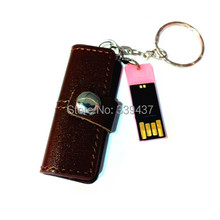 Real capacity USB stick leather USB flash drive mini wallet leather pendrive 4GB/8GB/16GB/32GB man gift flash card(China (Mainland))