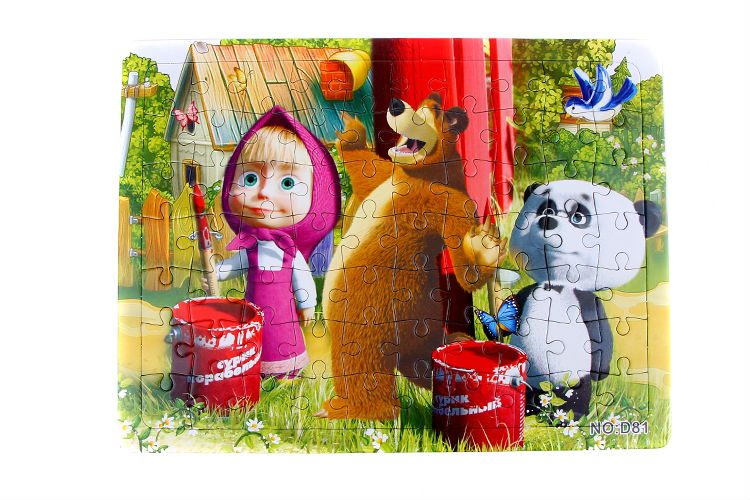 3D Paper jigsaw puzzles toys for children kids toys brinquedos Masha and Bear Princess educational Baby toys Puzles Puzzel D81-F(China (Mainland))