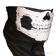 Skull Bandana Bike Motorcycle Helmet Neck Face Mask Paintball Ski Sport Headband 1FWI