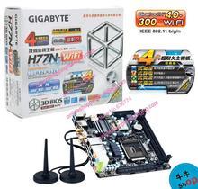 Giga gigabyte h77n-wifi mini itx motherboard dual network card wifi bluetooth(China (Mainland))
