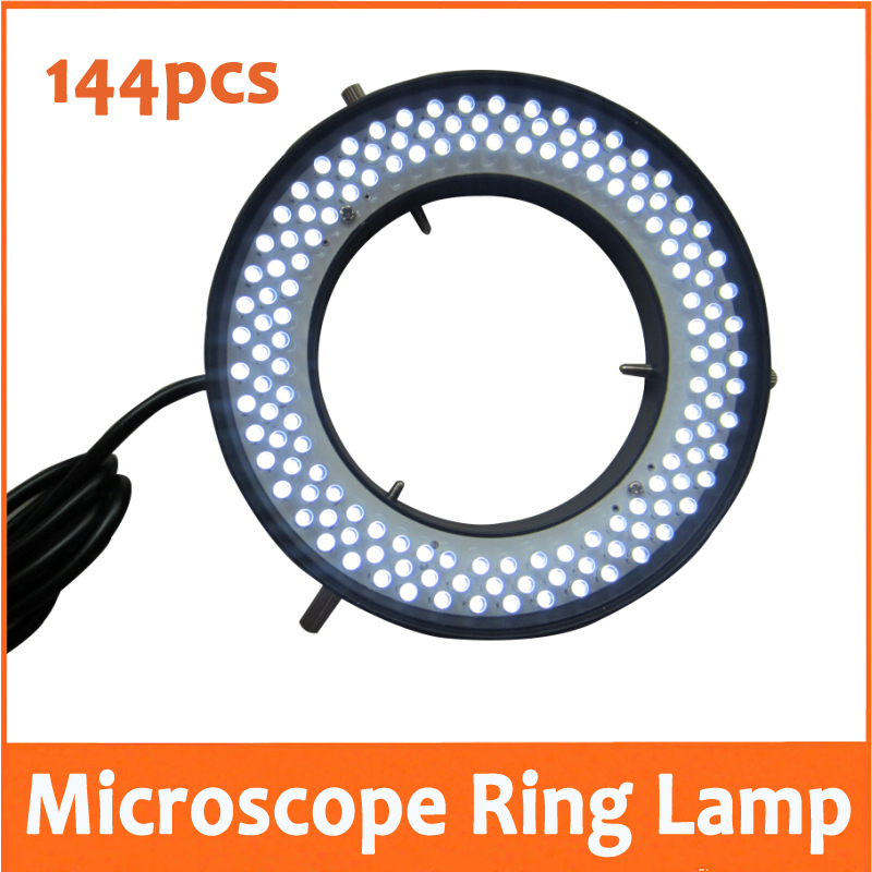 Фотография 144pcs White Light LED Adjustable Ring Lamp Illuminated Ring Bulb for Stereo Microscope 90V-220V with Inner Diameter 72mm