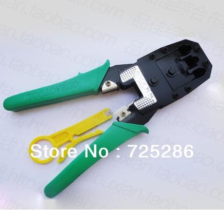 HOT SALE!! Tool set network Cable Tester RJ45 RJ12 CAT5 CAT5e 10/100 RJ45 Modular Plugs+Telecom Phone Cable Punch+Crimp Tool(China (Mainland))
