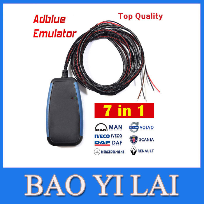 Adblue Emulator 7-In-1 Module/Truck Adblue Remove Tool With Programing Adapter For Bus , MAN, Scania, Iveco, DAF, Volvo Renault(China (Mainland))