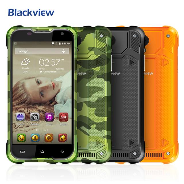 Blackview BV5000 Мобильный Телефон 5 дюймов 1280x720 HD MTK6735 Quad Core Android 6.0 2 ГБ RAM 16 ГБ ROM 8MP CAM 4 Г LTE Водонепроницаемый IP67