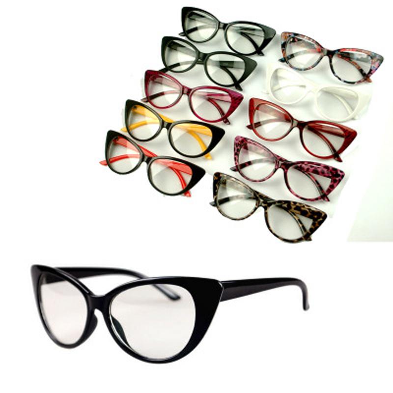 2016 New Cat Eye Glasses Retro Fashion Black Women Glasses Frame Clear Lens Vintage Eyewear Spectacle Oculos Femininos Gafas