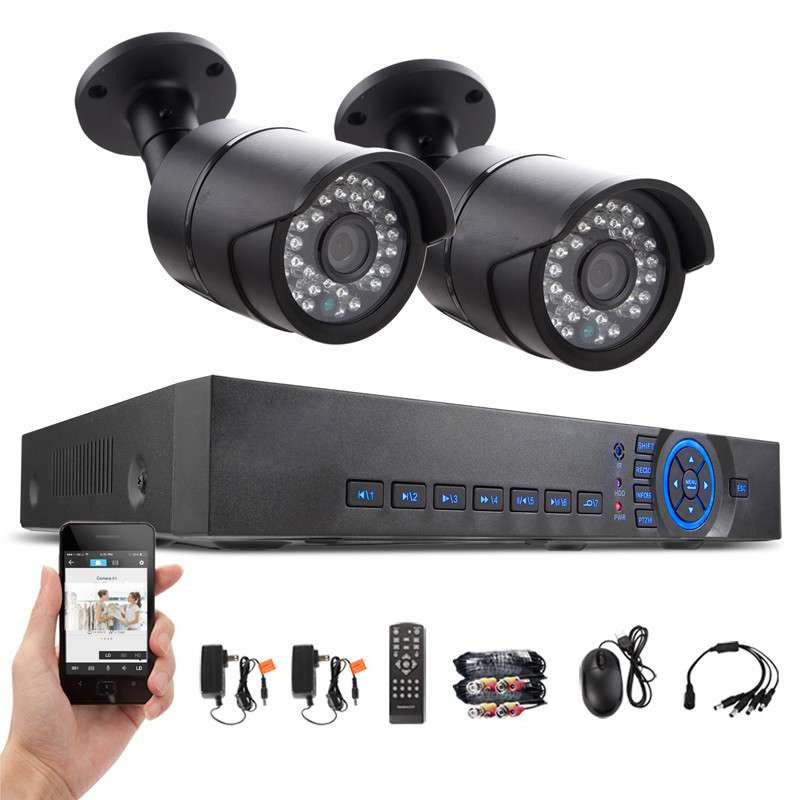 HD 4CH DVR Wired CCTV System Onvif 2pcs IP66 AHD 720P IP Cameras Waterproof IR Night Vision Home Security Surveillance Kit K88a<br><br>Aliexpress