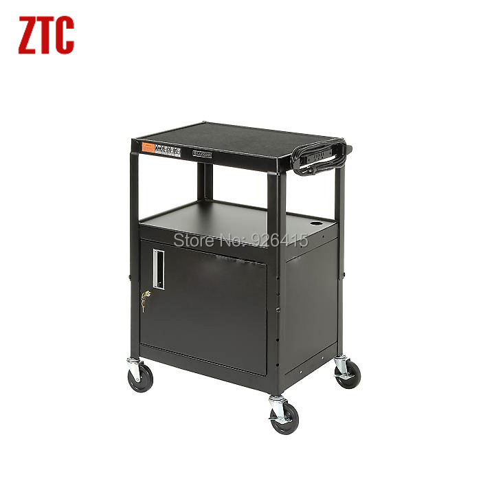 Mobile projector cabinet cart,educational instrument steel computer cart very convenient and practical(China (Mainland))