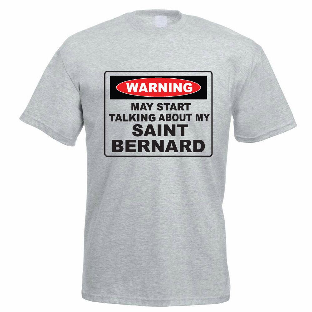 Shirt design uber - T Shirt Design Kurz Zomer Oansatz Herren Kann Beginnen Reden Ber Meine Saint Bernhardiner Hund Lustiges Geschenk Idee T Shirts