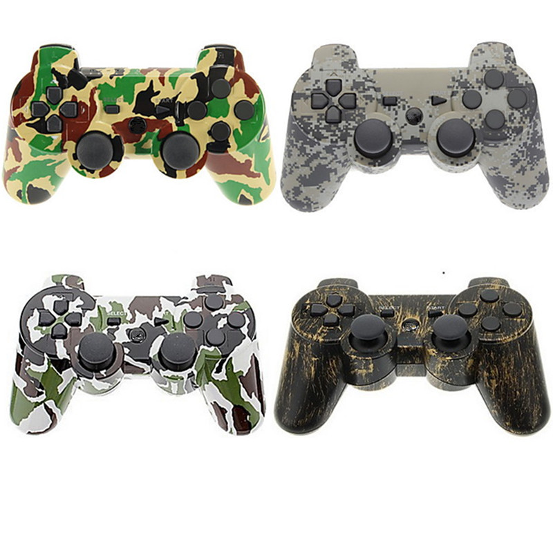 With box 4style Camouflage Double shock Wireless Bluetooth SIXAXIS Gamepad Controller for ps3 Console for Dual Shock 3 With Logo(China (Mainland))