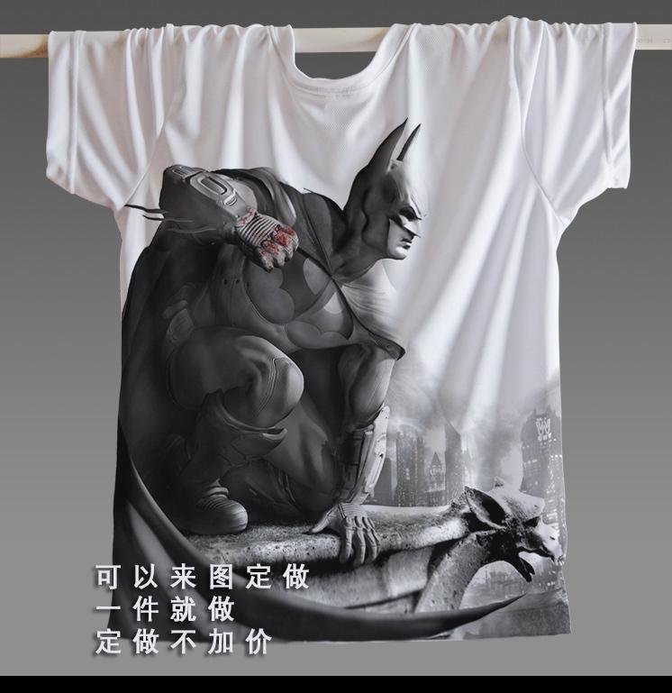 Men Hot Sale Joker Heath Ledger T-shirts Vintage Movie Batman 2 The Dark Knight Rises Tshirts Custom Funny Print T Shirts